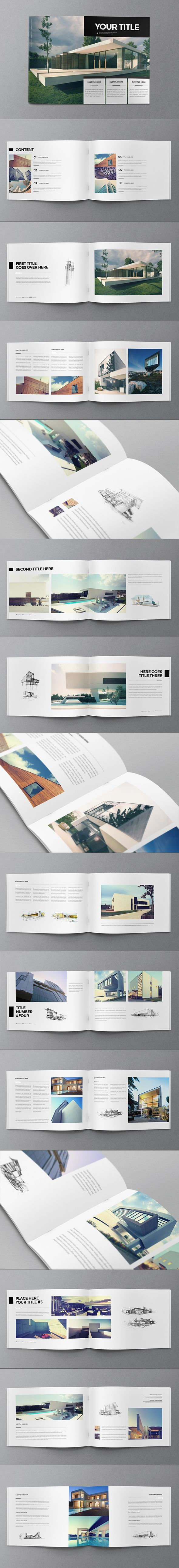 Minimal Architecture Brochure  Layouts Architecture Portfolio