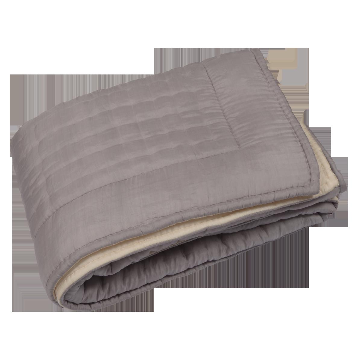 couvre lit boutis parme Boutis couvre lits réversible gris parme / ivoire   220 X 240  couvre lit boutis parme