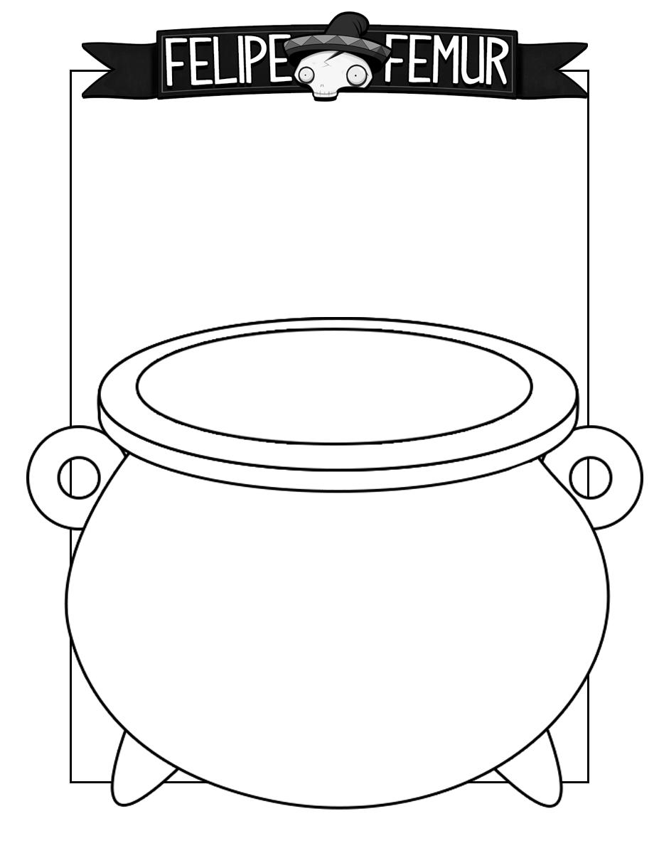 Free cauldron coloring sheet. #kids #coloring #freeactivities ...