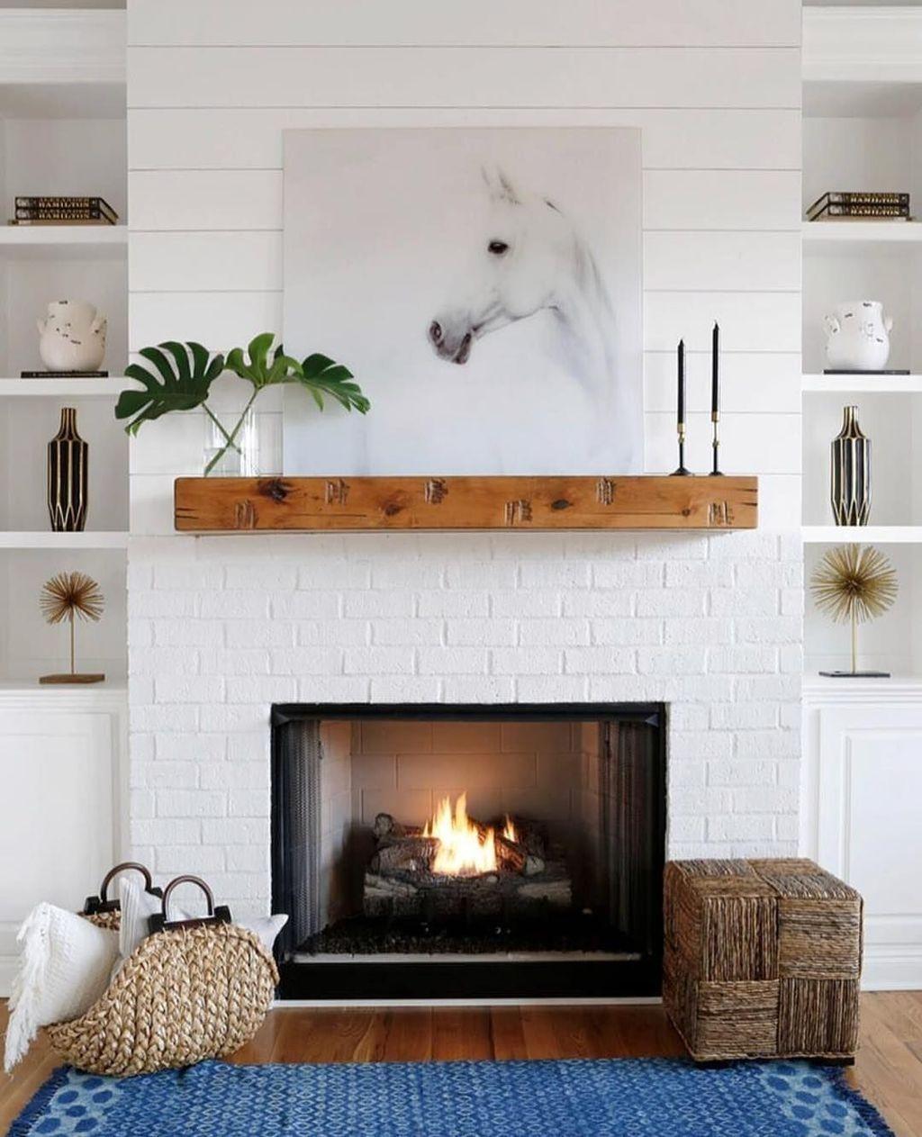 modern farmhouse fireplace screen