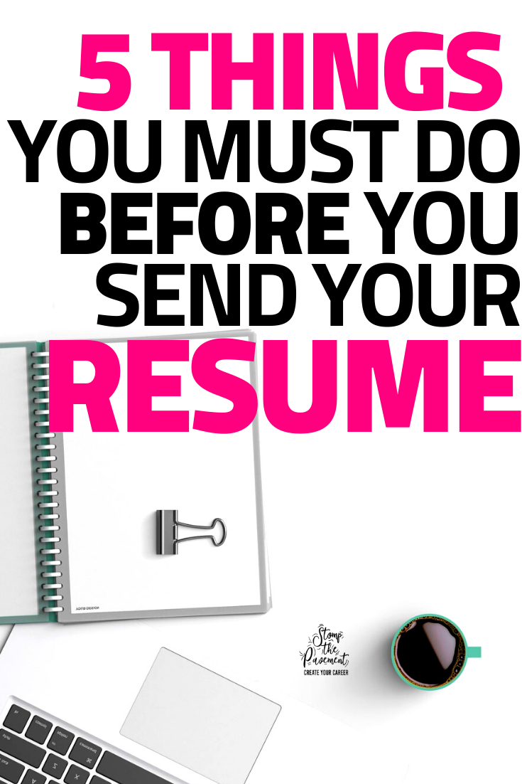 Before you Send your Resume, Do these 5 Things in 2020