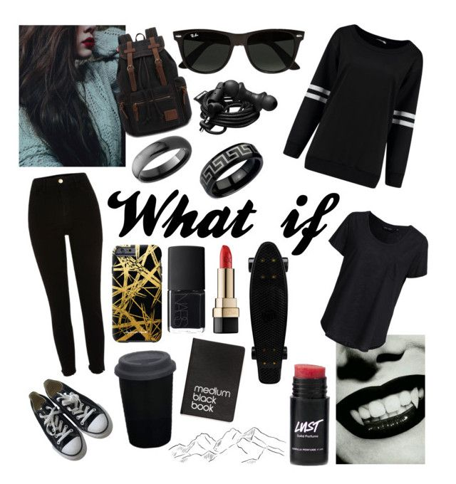 """""""What if - I was a vampire"""" by rather-be-surfing ❤ liked on Polyvore featuring River Island, Converse, Ray-Ban, Urbanears, Khristian Howell, New Look, NARS Cosmetics, Dolce&Gabbana, Bling Jewelry and adidas"""