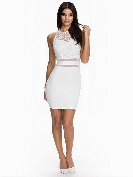 Nelly.com: Mesh Detial Top Bodycon Dress - Ax Paris