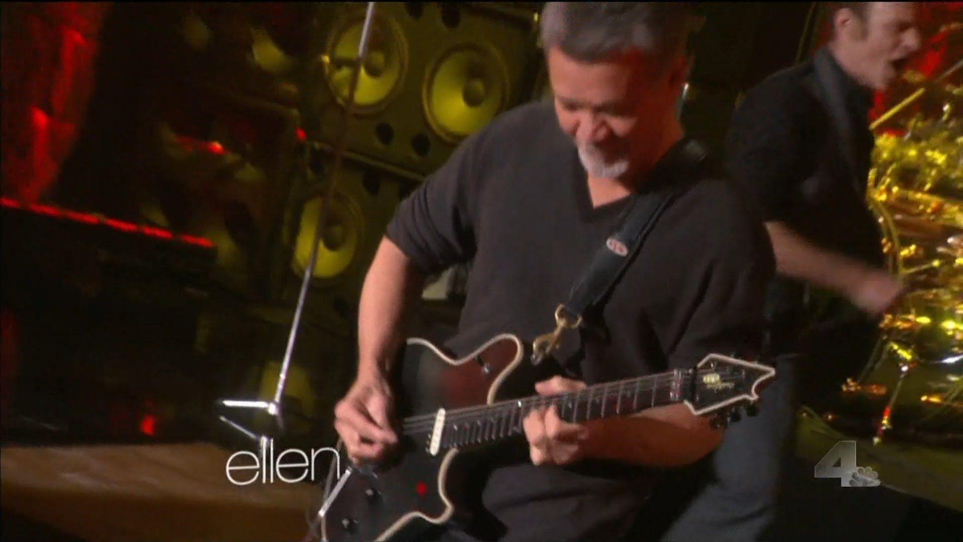 Van Halen Jump On Ellen Degeneres Van Halen Ellen Degeneres Youtube Eddie Van Halen