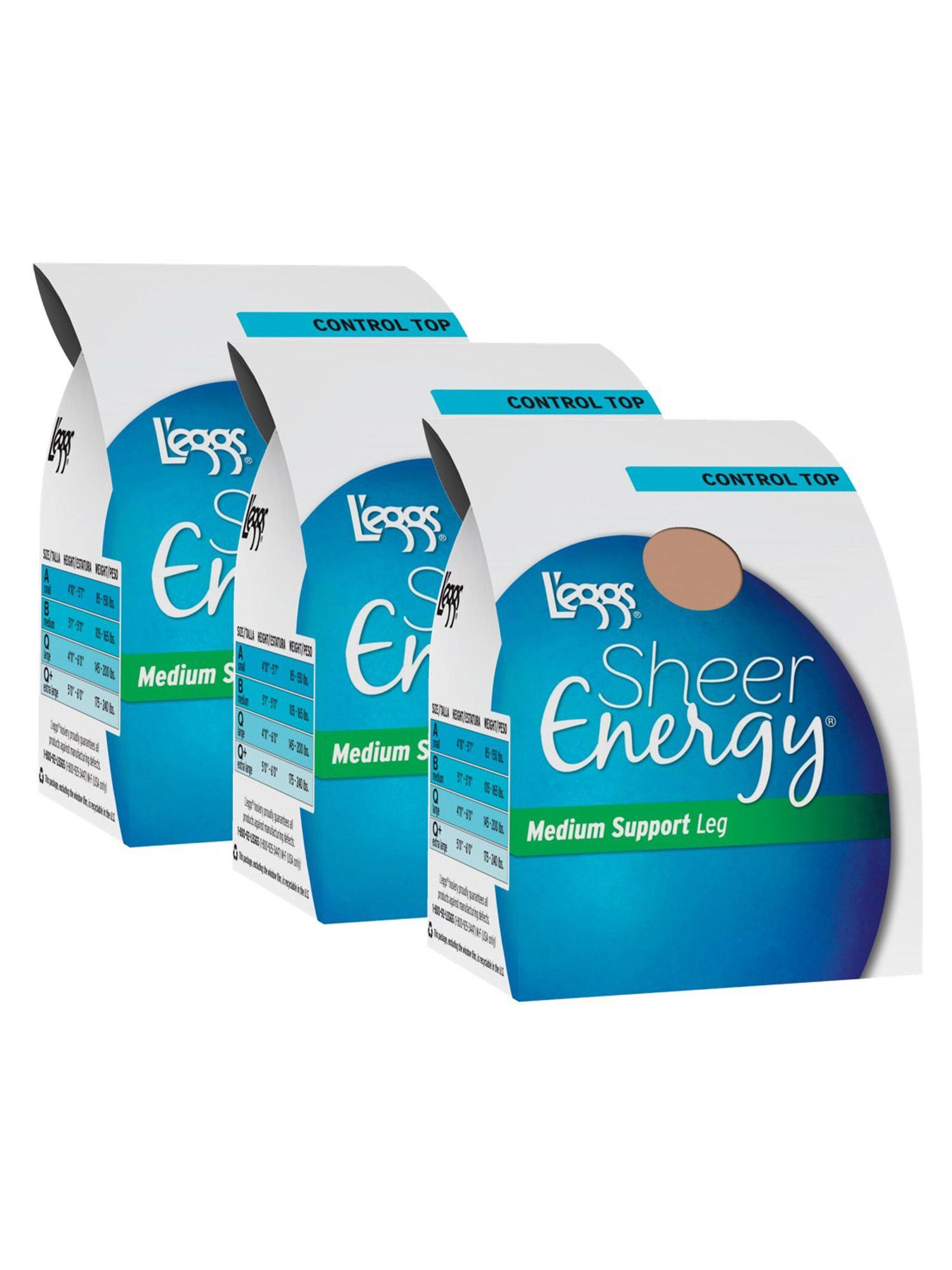 L'eggs Sheer Energy Medium Support Control Top Hosiery, 3