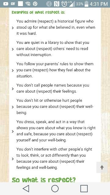 Examples Of Respect Explaining Respect To A Child Inspiring My