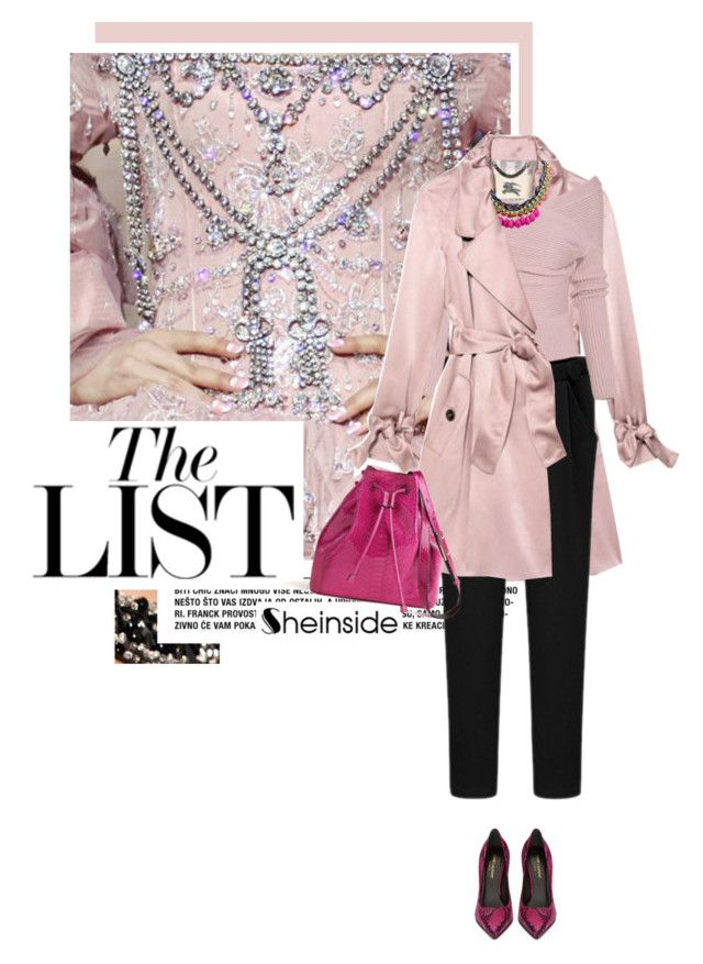 """The List"" by acherontiatropos ❤ liked on Polyvore featuring Burberry, Yves Saint Laurent, Pink, classy and Sheinside"