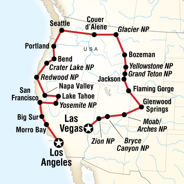 Map Of The Route For Vegas To Los Angeles Road Trip Los Angeles Road Trip Road Trip Road Trip Usa