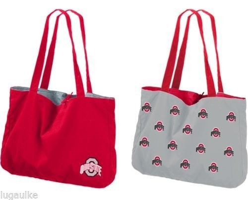 NEW NCAA Ohio State Buckeyes Reversible Tote Bag / Large Purse #OhioStateBuckeyes
