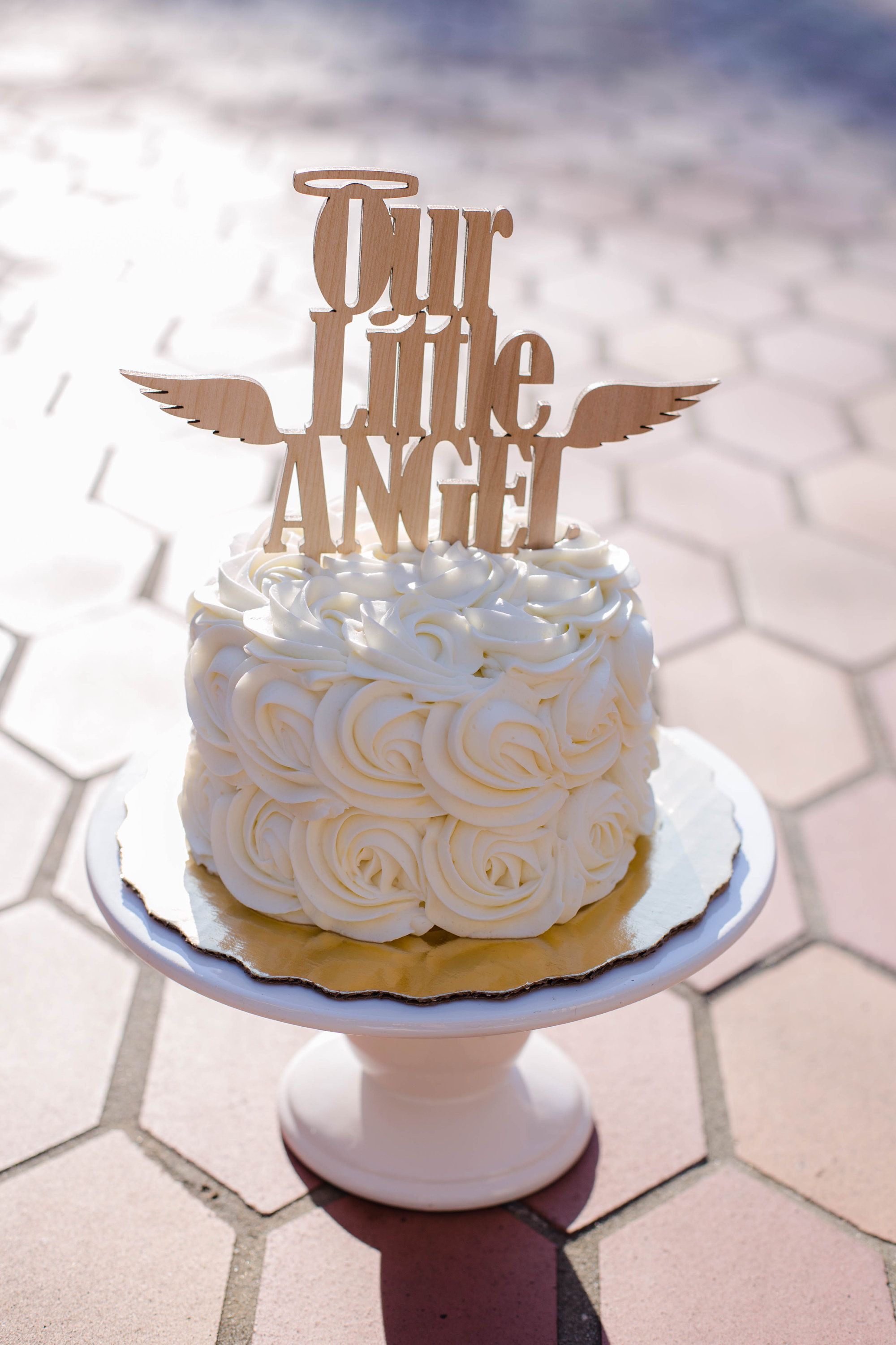 Miraculous Our Little Angel Cake Topper Angel Wings Cake Topper Kids Funny Birthday Cards Online Alyptdamsfinfo