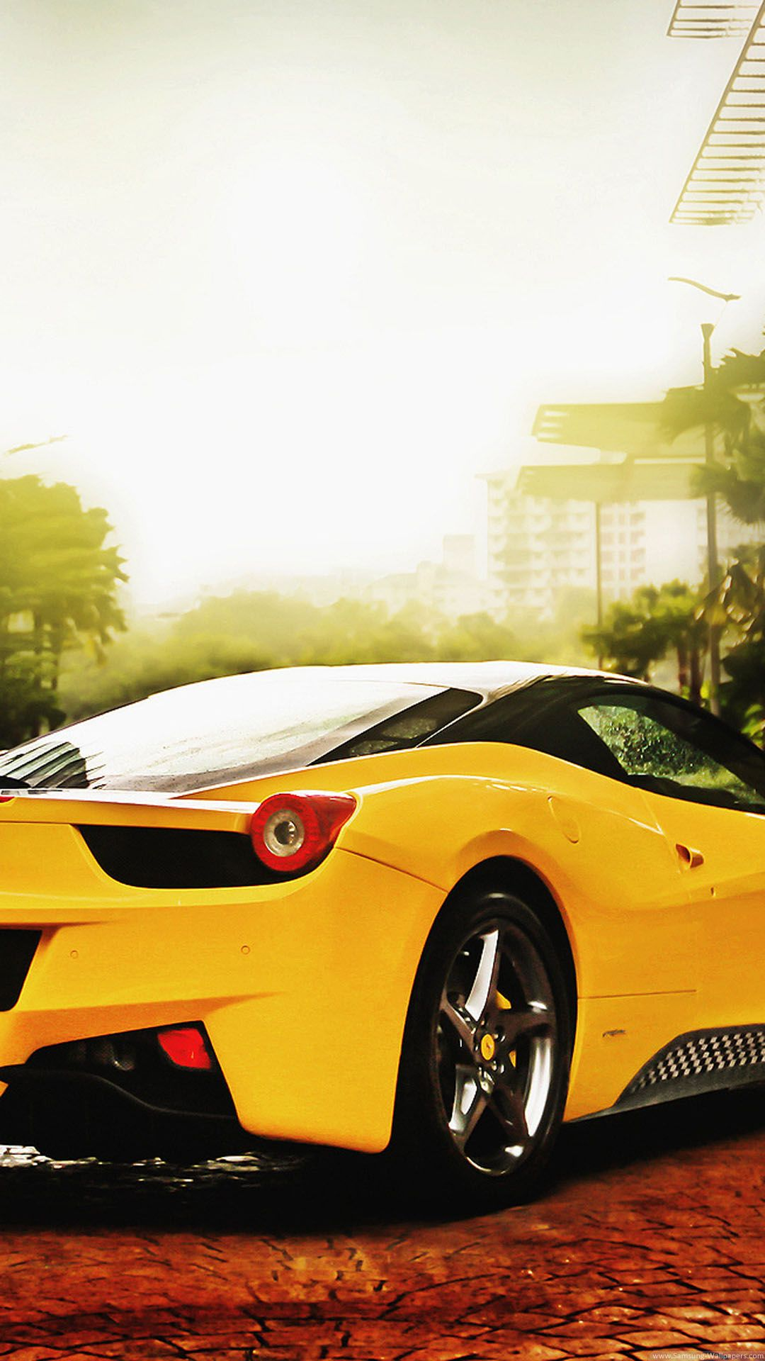 Ferrari 458 Spider Yellow IPhone 6 Plus HD Wallpaper   Top 10 Cars IPhone  Wallpapers