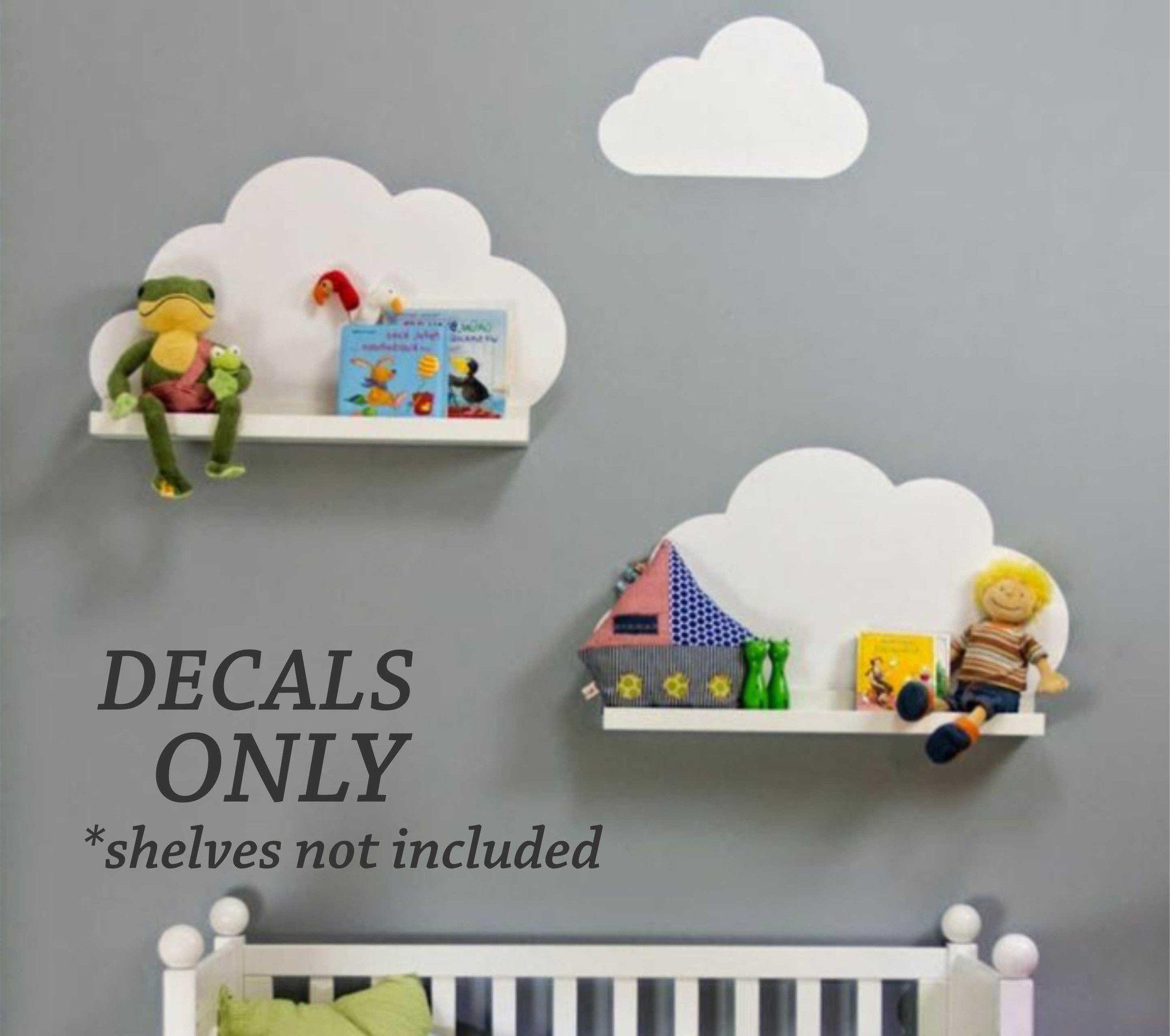 Cloud Shelf Decals Nursery Wall Decals Vinyl Wall Art Wall - Nursery wall decals clouds