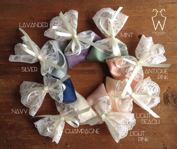 c64ad253d211b6 READY TO SHIP lace gift bags with satin ribbons and personalized tags. Send  me your text and the choosen font number. Luxurious lace favor bags with a  satin ...