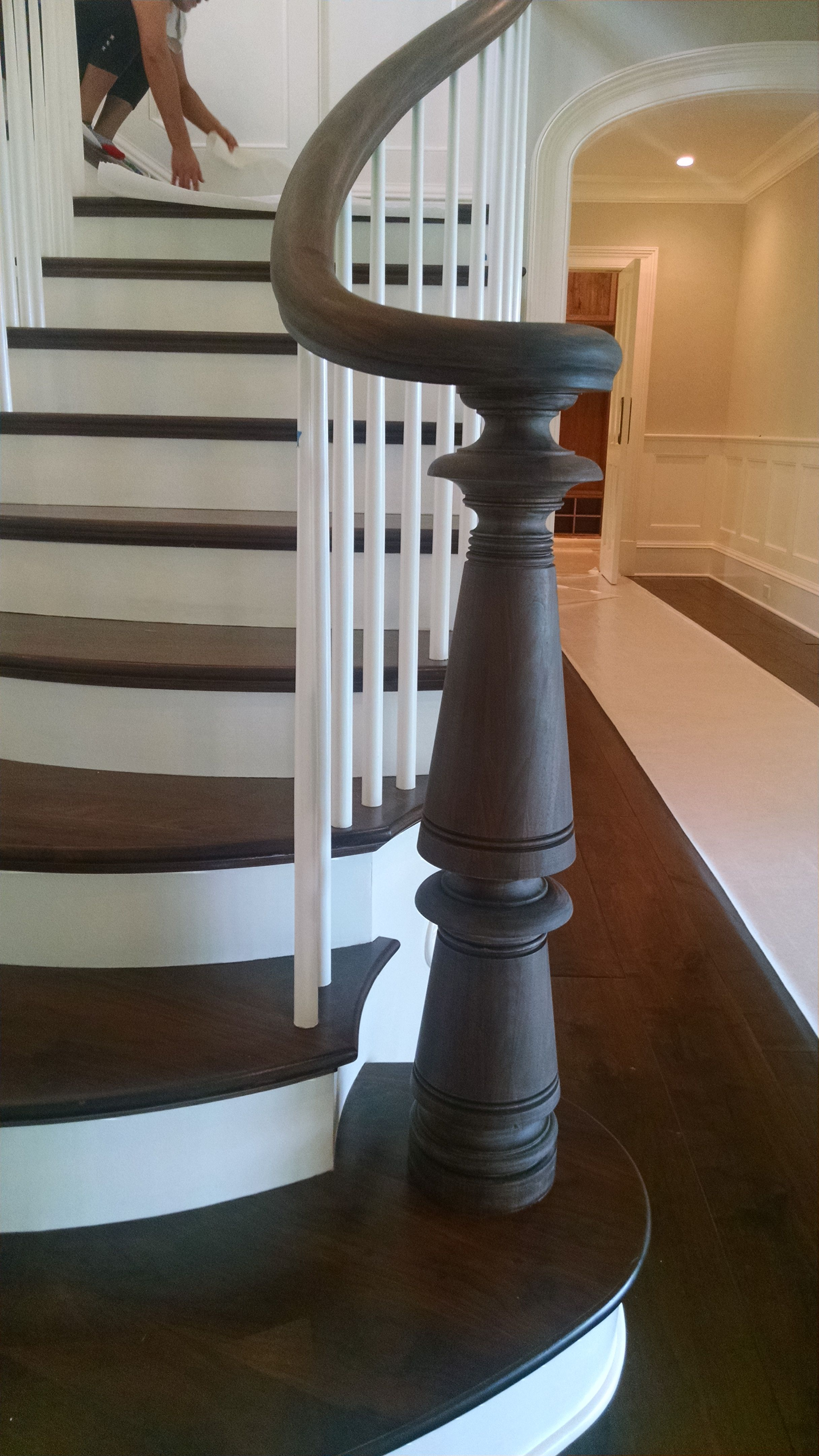beautiful custom interior stairways. contemporary custom 2 big chunky newel posts flared at bottom of stairs open the wall a little  bit into living room inside beautiful custom interior stairways e