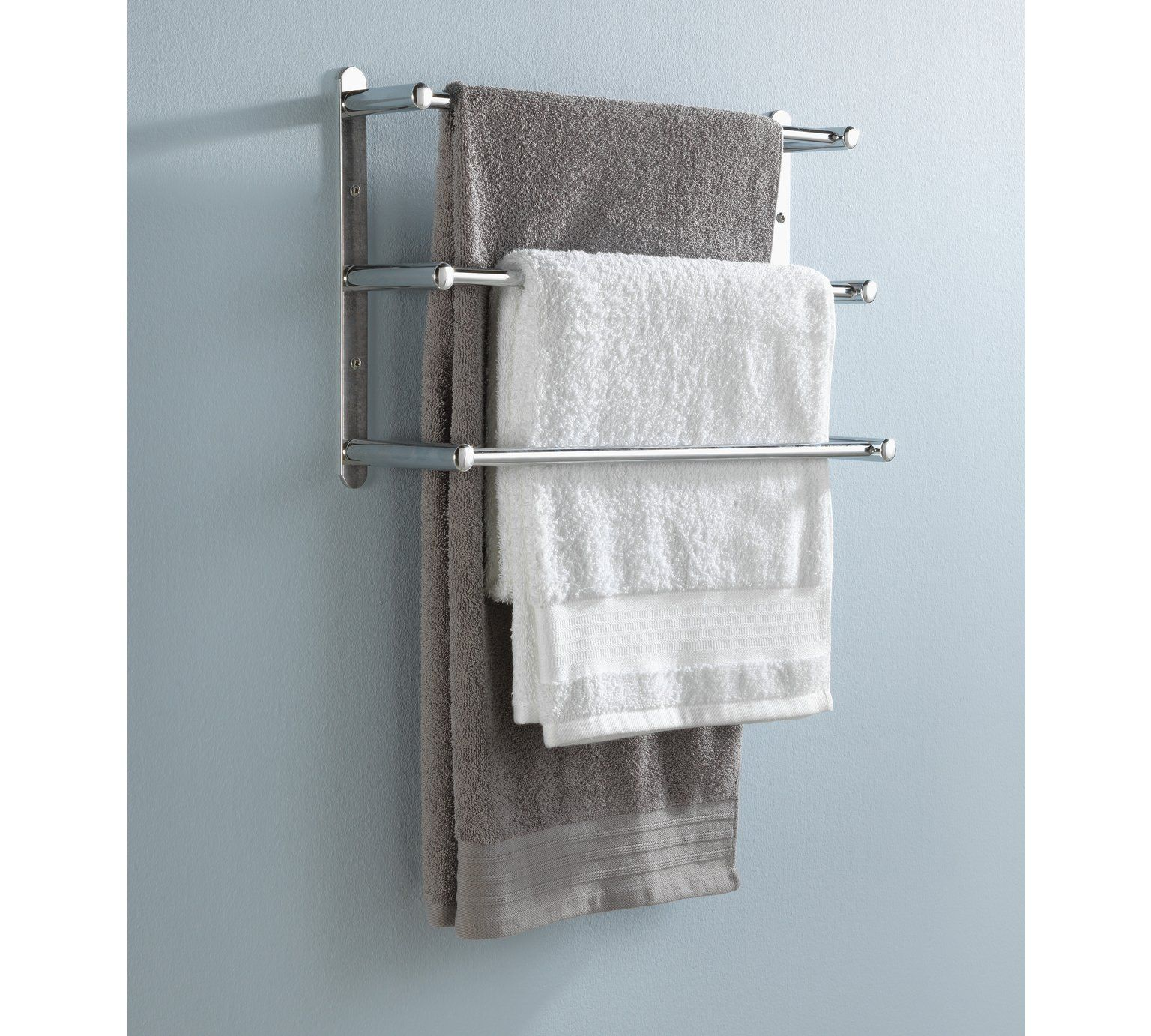 Buy HOME 3 Tier Wall Mounted Steel Towel Rack at Argos.co.uk, visit ...