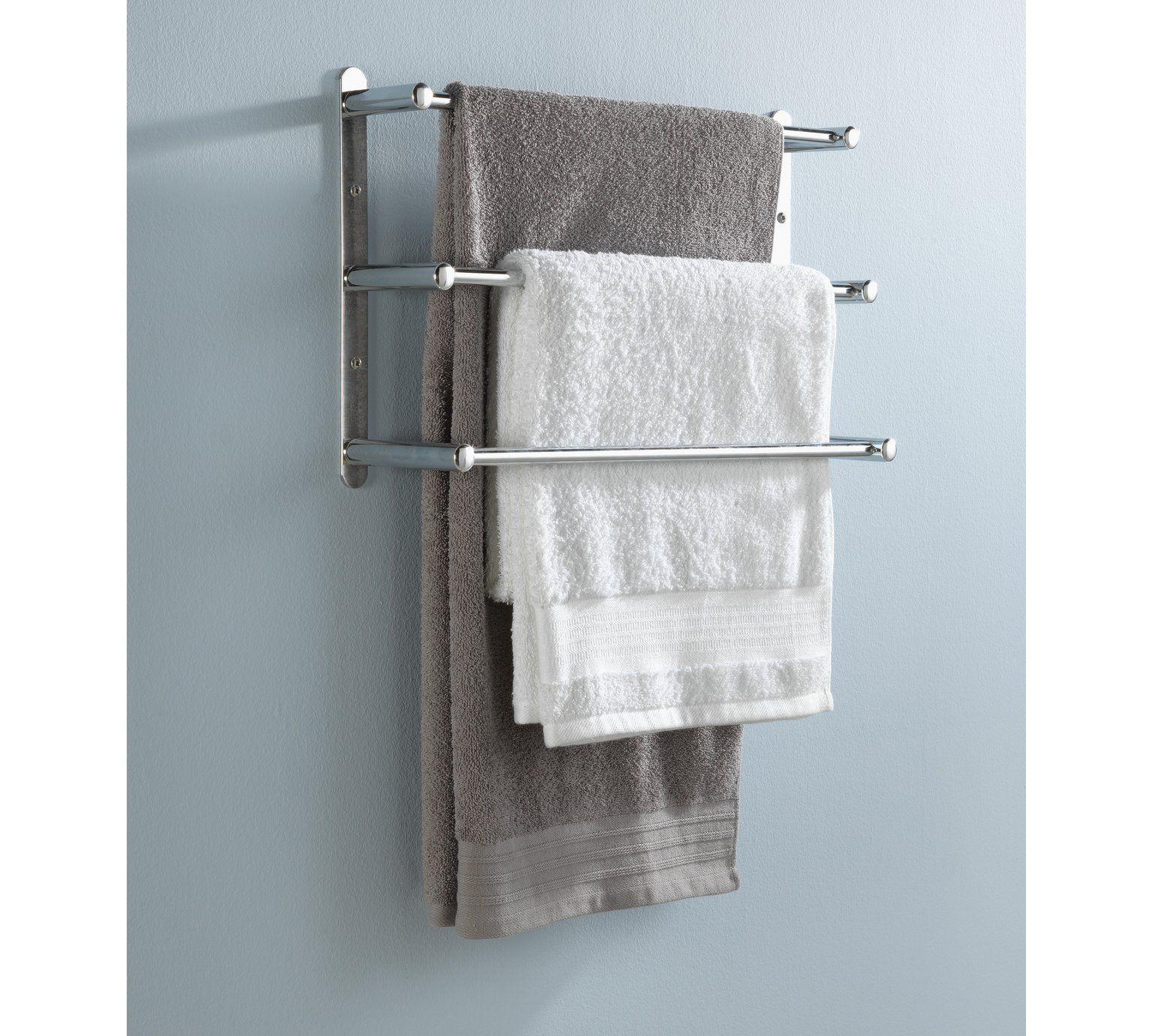 Buy HOME 3 Tier Wall Mounted Steel Towel Rack at Argos.co.uk, visit ...