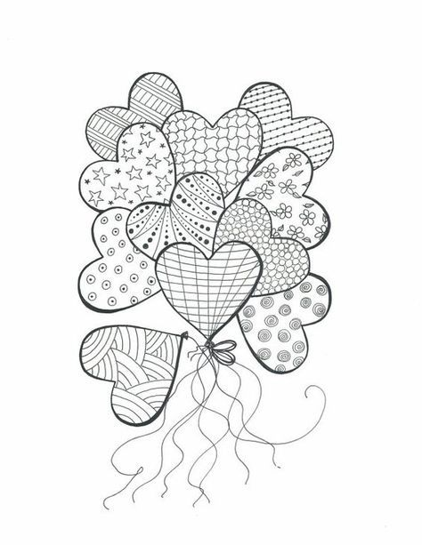 Image Result For Easy To Draw Heart Doodles Heart Coloring Pages Heart Doodle Coloring Pages