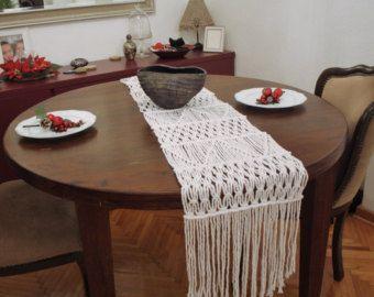 Handwoven Macrame Table Cloth Handmade Wedding Table Runner