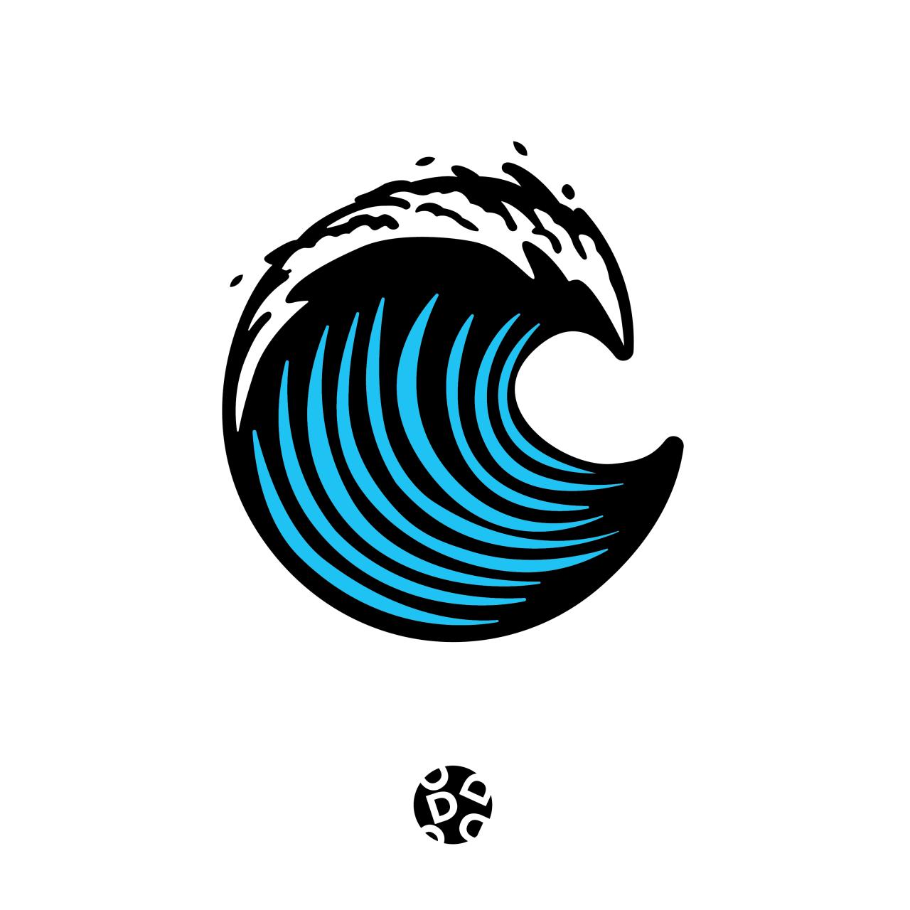Wave Icon Logo Design Graphicdesign Dbalugay Branding California Grow Illustration Adobe Adobeil Logo Design Branding Graphics Waves Logo Surf Logo