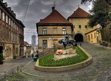 Statue Of St George And The Dragon Lower Left And The Stone Gate In Zagreb S Old City Croatia Croatia Travel Zagreb Croatia