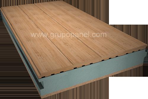 Panel s ndwich madera terminacion interior en tarima de pirineo natural o barnizado panel - Tarima madera interior ...
