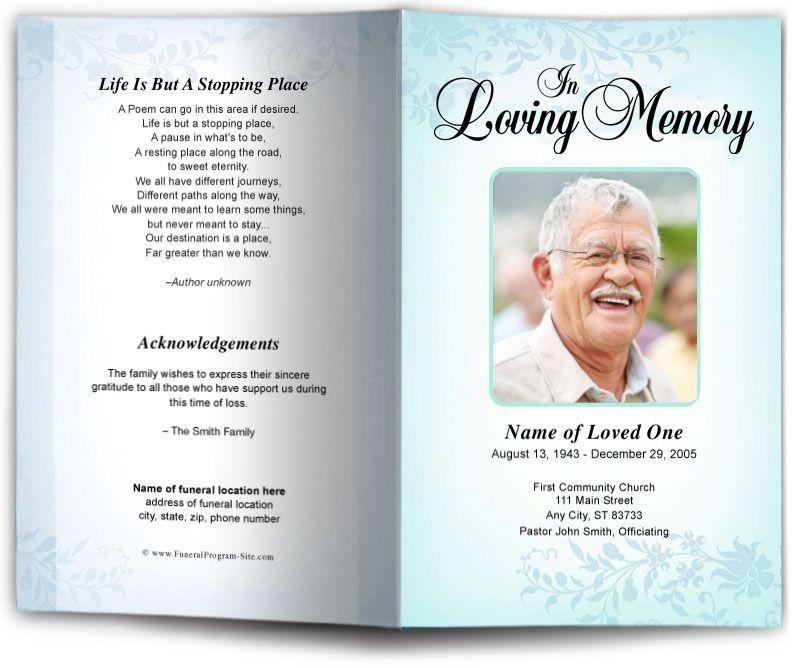 Ceasar funeral program template funeral programs