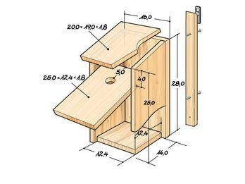 nistk sten bauanleitung bird houses vogel. Black Bedroom Furniture Sets. Home Design Ideas