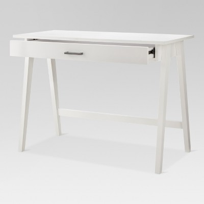 Paulo Wood Writing Desk With Drawers White Project 62 Writing