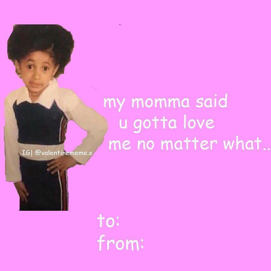 Valentines Day Memes Valentine Cards On Instagram Send This To Iamcardib Idea By Viannvarg In 2020 Meme Valentines Cards Valentines Memes Funny Valentines Cards