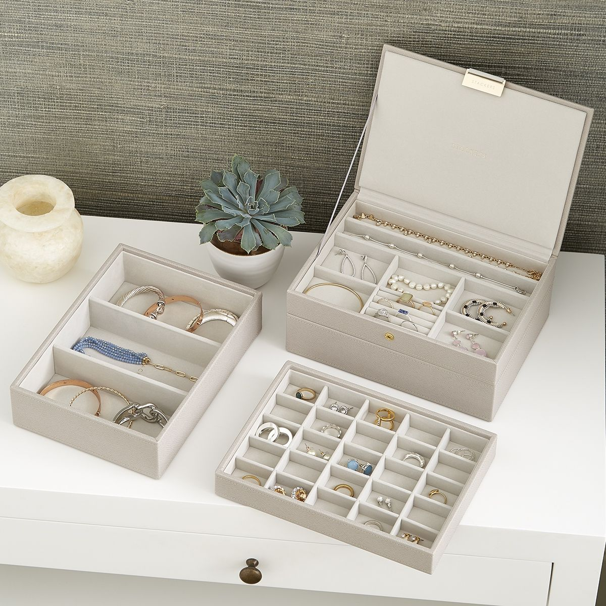 Organize Any Size Collection Of Jewelry With Modular Stackable