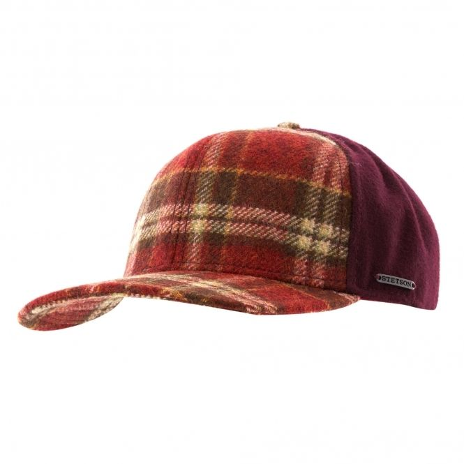 e5cb1250b2651a Stetson Hats Virgin Wool Trucker Cap - Red Check | Stetson | Cap ...