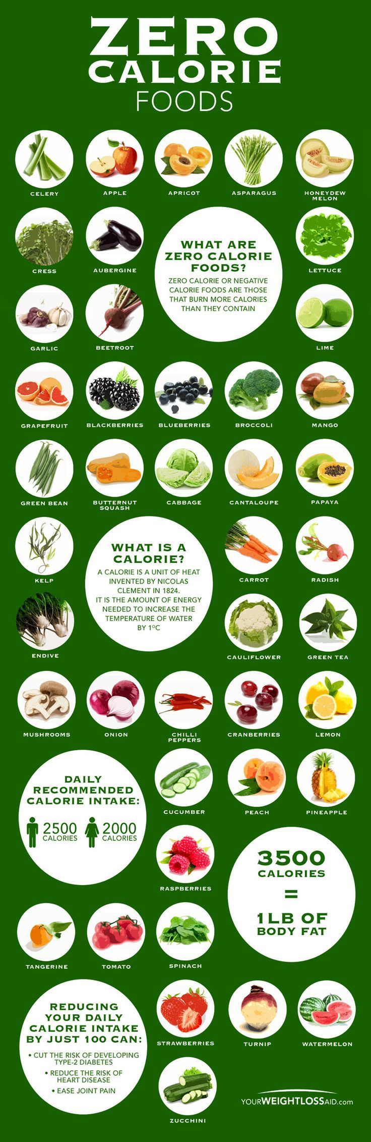 Zero Calorie Food Chart Infographic Healthy Eating Tips