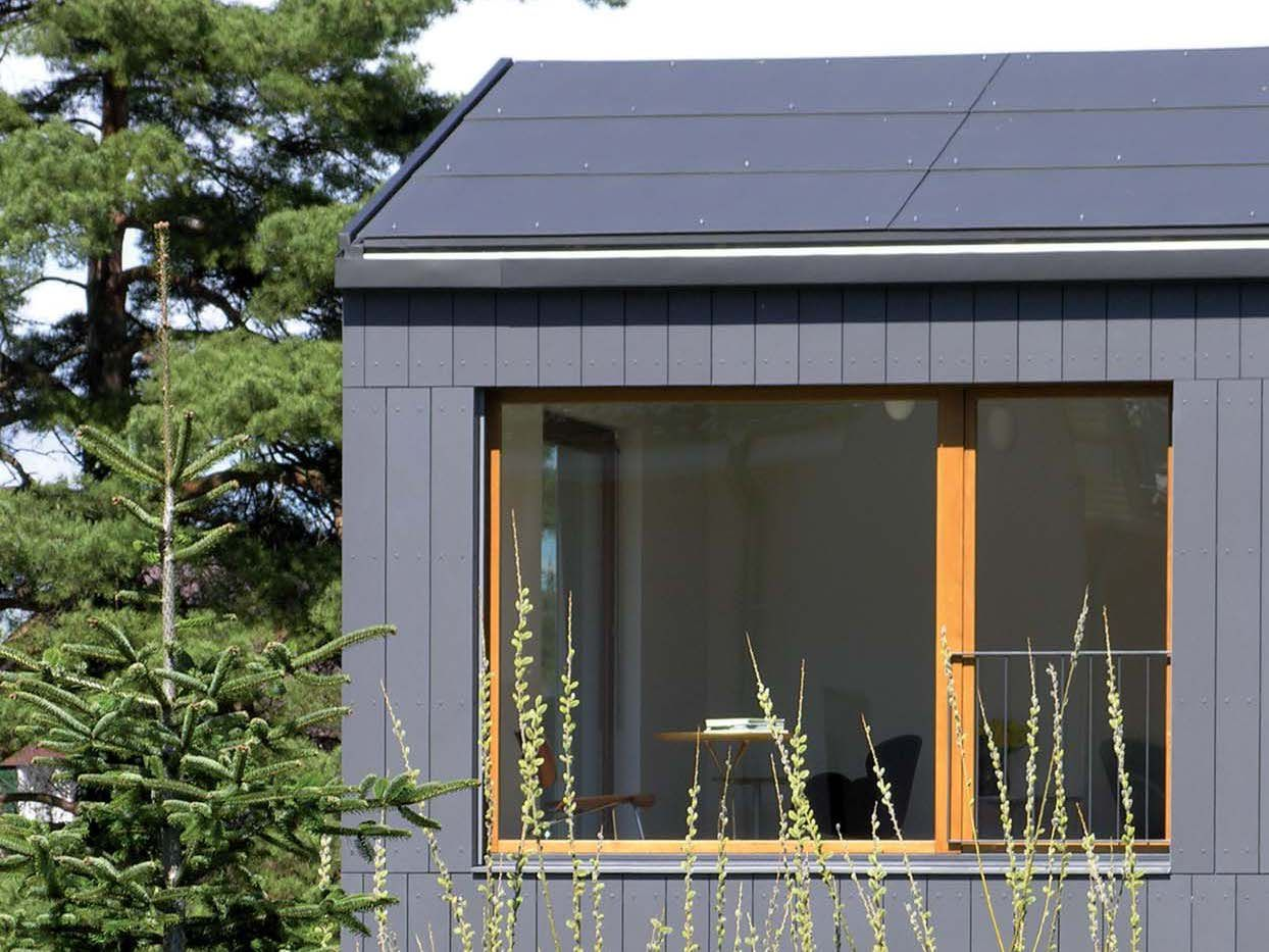 Roofing Panel And Sheet In Fibre Cement Integral Plan By Swisspearl Italia Facade House Building Cladding Swisspearl