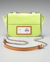 Cute neon chain shoulder bag