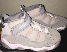 527812e48cb3 Little Boys Jordan 6 Rings Basketball Shoes Gray   White NIB Size 8 ...