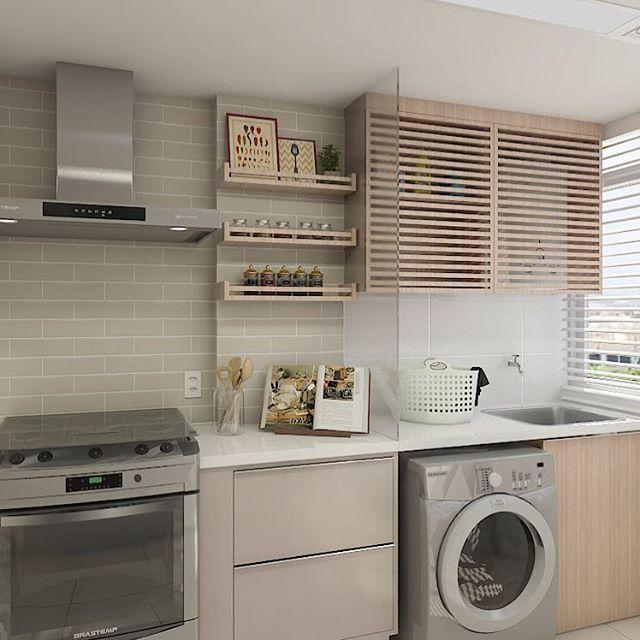 Lembram Desta Cozinha Segue O Projeto 3d Da Lavanderia Com Uma Otima Solucao Para Es Modelo De Cocinas Pequenas Armario De Lavanderia Diseno Muebles De Cocina