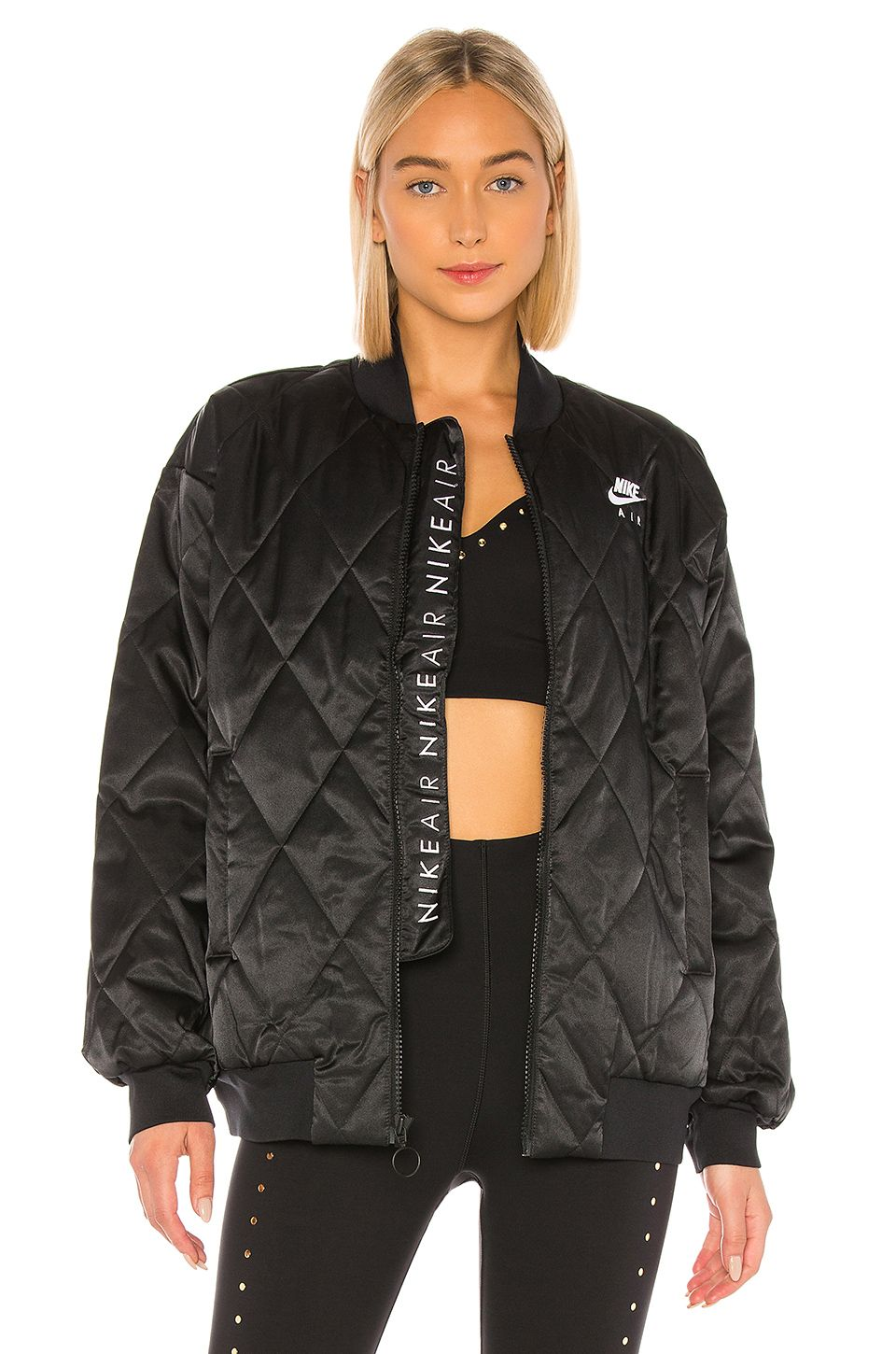 Nsw Air Synthetic Fill Satin Jacket Satin Jackets Jackets Clothes For Women [ 1450 x 960 Pixel ]