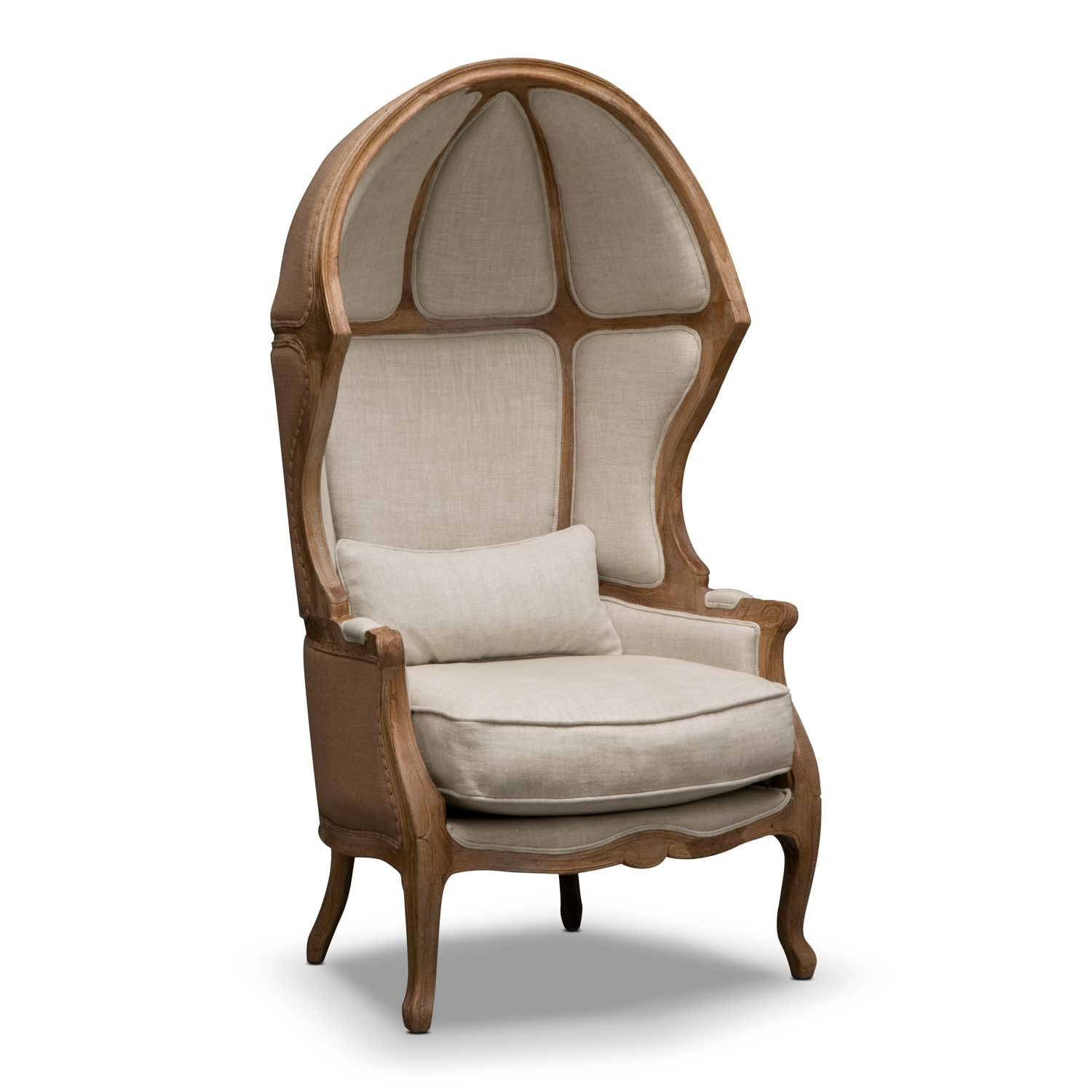 Marquette Beige Upholstery Dome Accent Chair