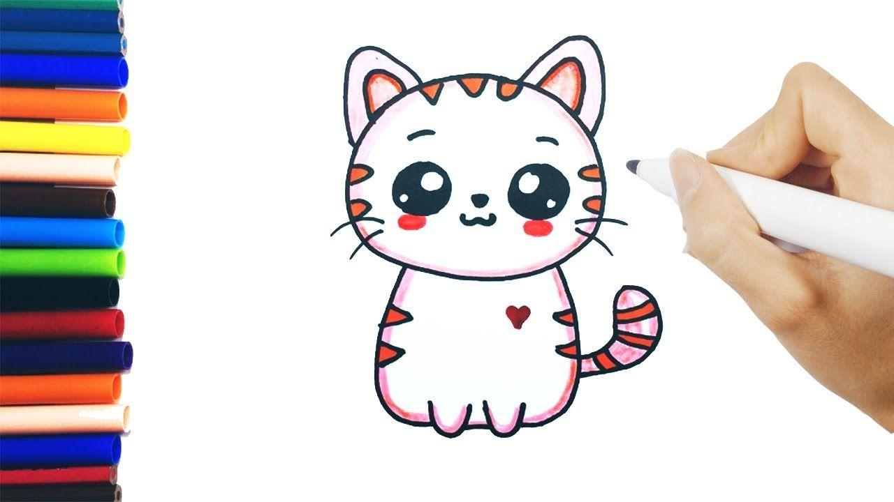 Como Dibujar Un Gato Kawaii Dibujos Faciles Dibujos Para