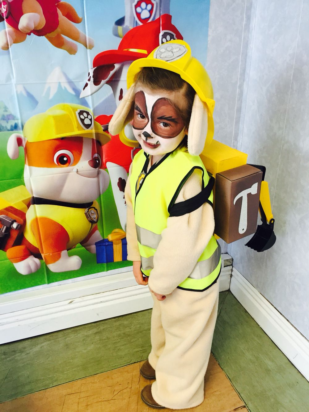 DIY Paw Patrol Rubble costume! More ca92906755