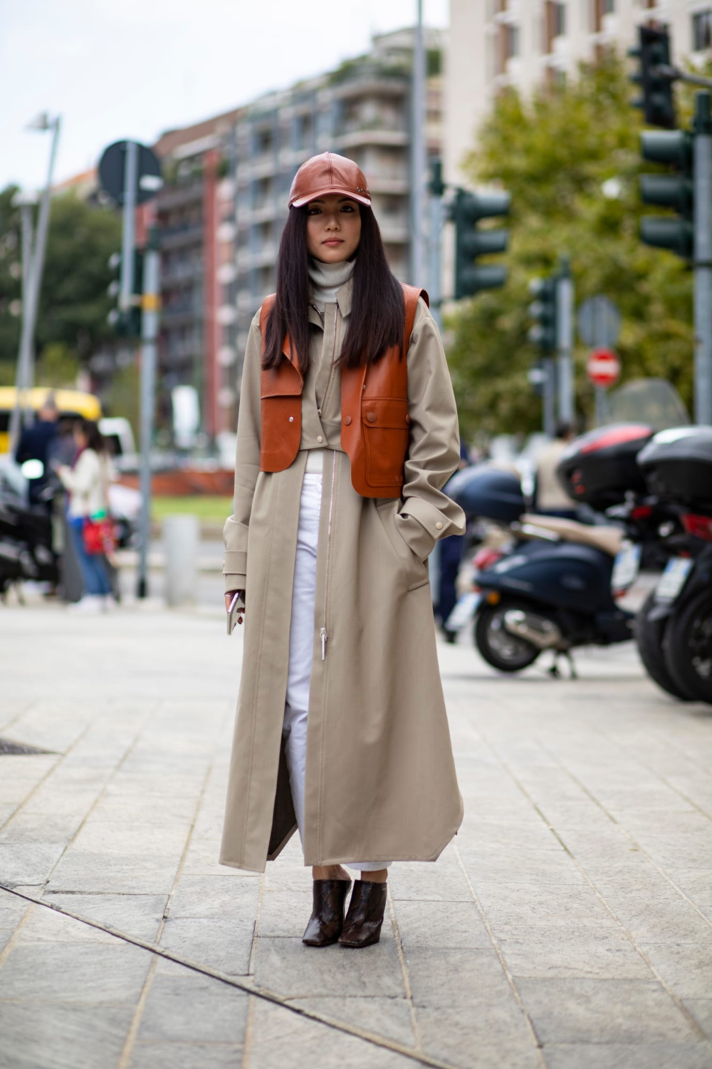 Showgoers Wore Colorful Leather Looks Over The Weekend At