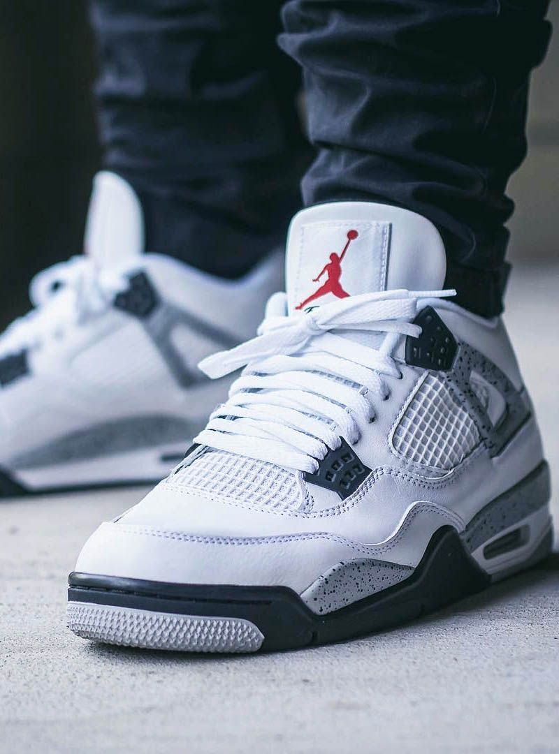 9d13329a14aa Air Jordan 4 Retro Cement. J4 white cement Retro Jordan Shoes ...