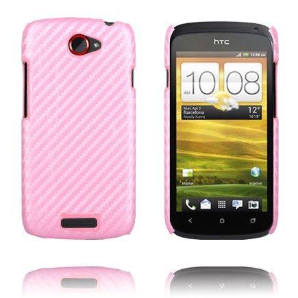 Carbon (Vaaleanpunainen) HTC One S Suojakuori