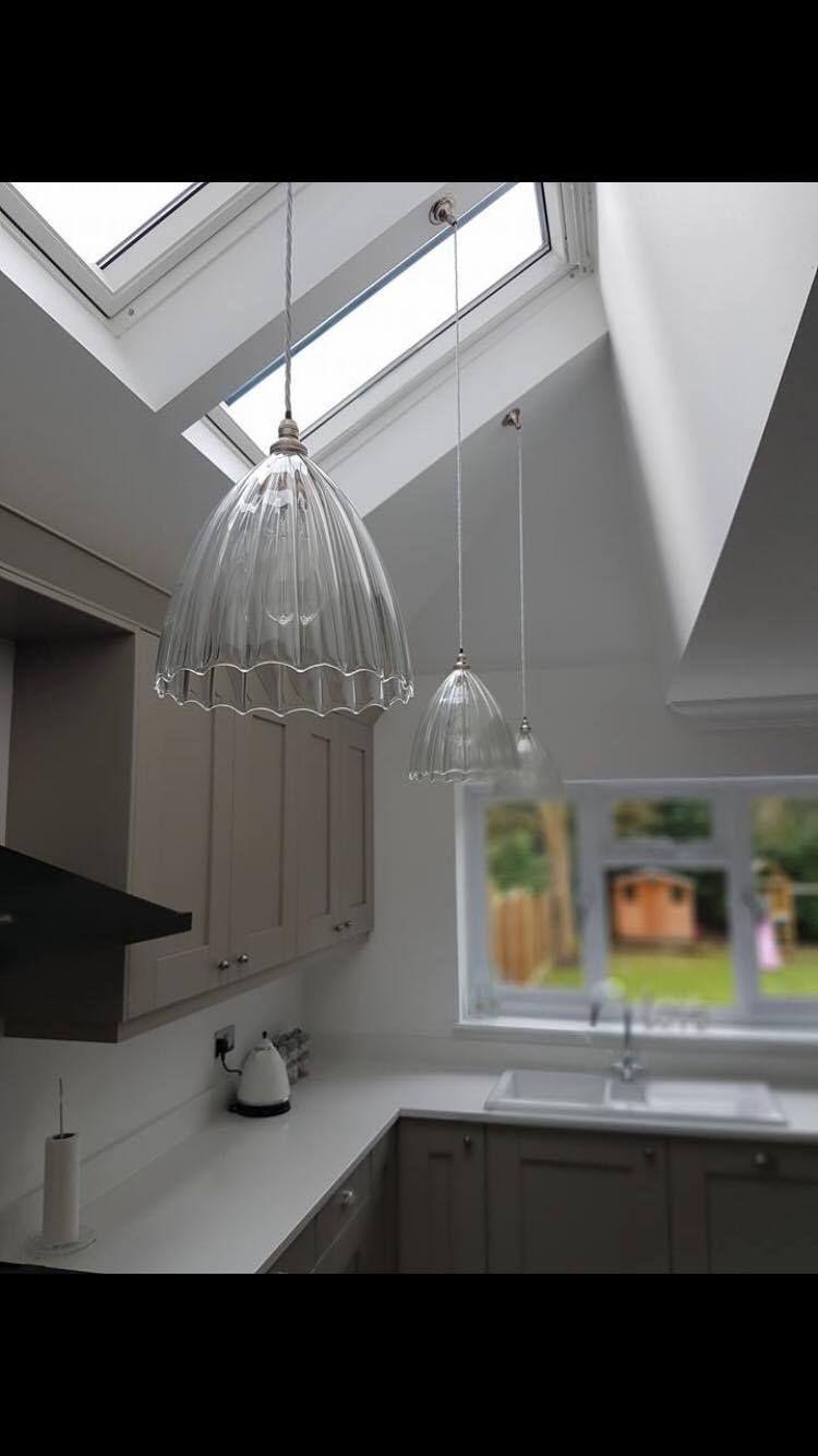 ribbed glass pendant ceiling light