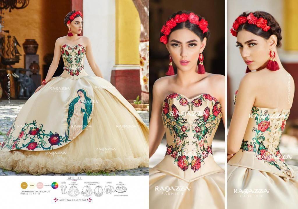 3080917042 Virgin de Guadalupe Quinceanera Dress by Ragazza Fashion Style M11-111-Ragazza  Fashion-ABC Fashion  prettyquinceaneradresses