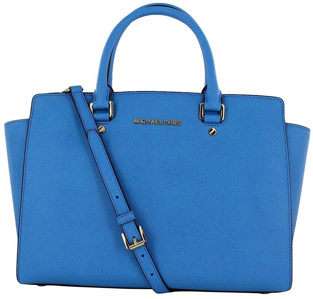 The Selma satchel handbag exudes a timeless feel. Made of