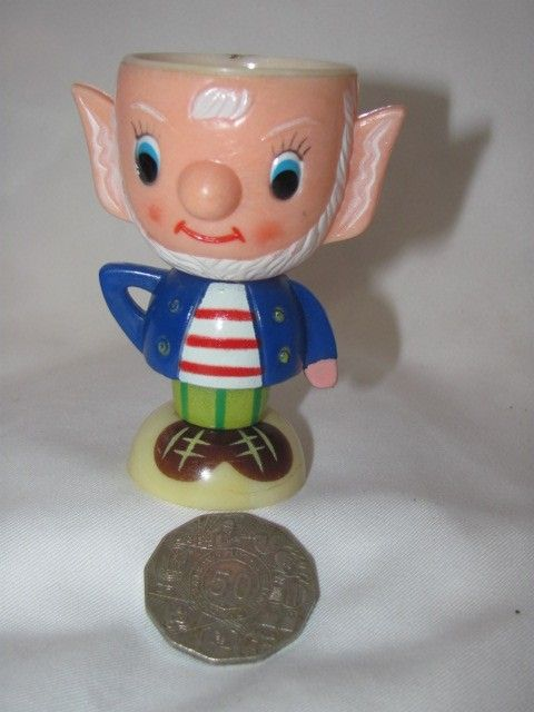 Vintage Noddy Character Big Ears Plastic Egg Cup Like