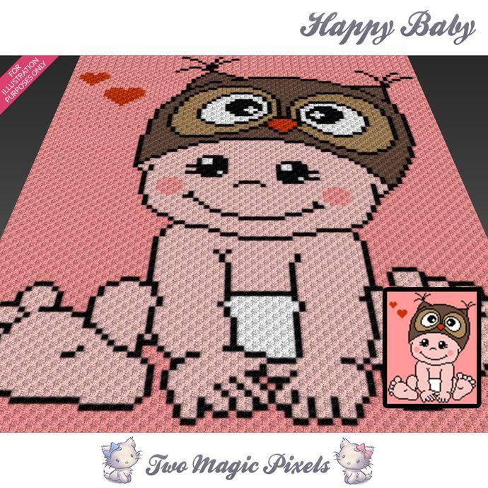 Happy Baby Crochet Blanket Pattern C2c Knitting Cross Stitch
