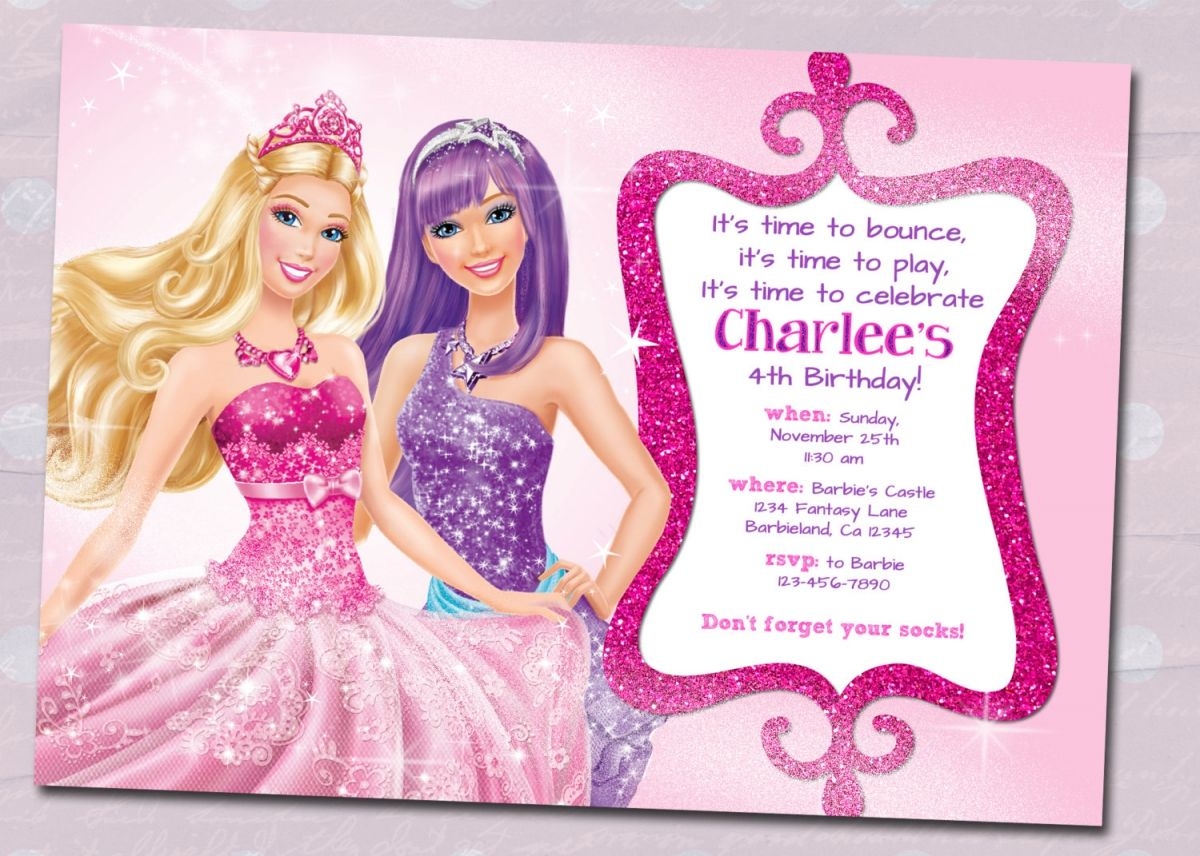 Barbie Birthday Invitation Samples Invites Pinterest Barbie
