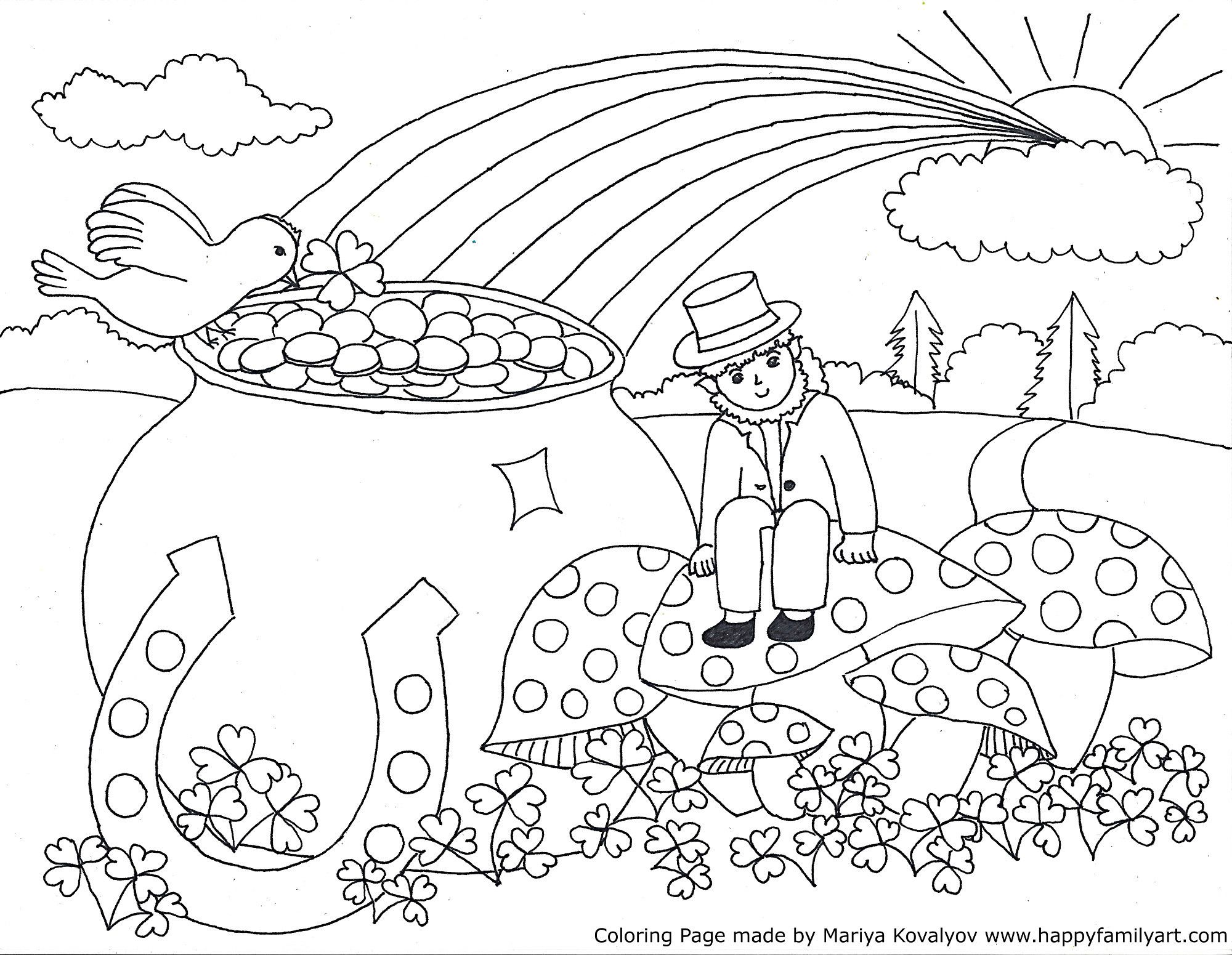 Stpatriksmedium Happy Family Art St Patricks Coloring Sheets Cool Coloring Pages Coloring Pages